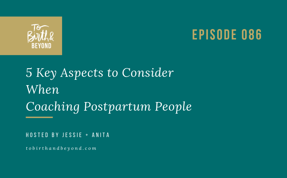 Episode 86: 5 Key Aspects to Consider When Coaching Postpartum People